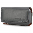 Genuine Leather Protective Case w/ Belt Clip for Iphone 4 - Black