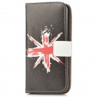 UK National Flag Pattern Protective PU Leather Case for iPhone 5 - Dark Coffee