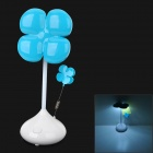 Cute Petal Style 2-Mode 20W 80lm 5000K 16-LED White Light Lamp - Blue + White (3 x AA / USB Power)