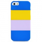 TEMEI Protective Hard Plastic Case for Iphone 5 - Blue + Yellow + Light Purple