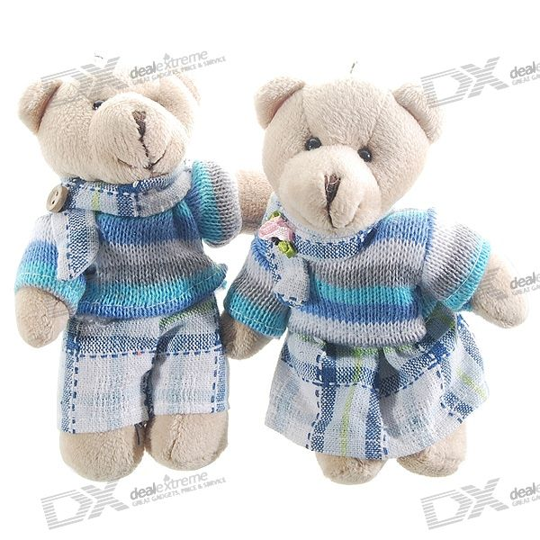 Valentine's Day Gift - Cute Couple Doll Bear Keychains