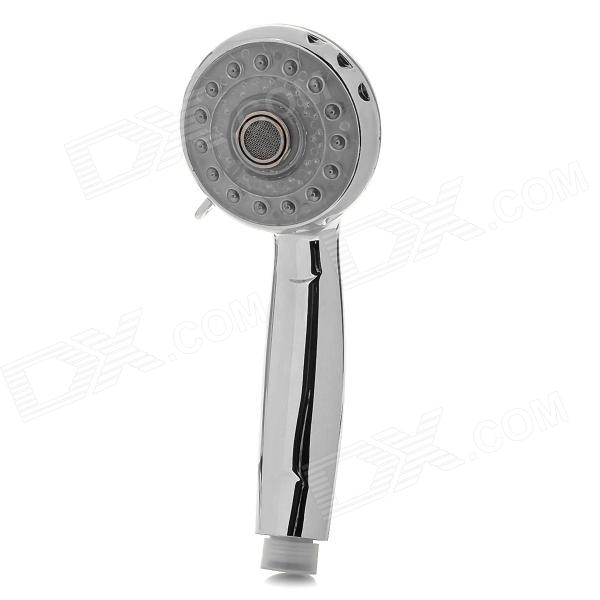 0821 3 3-Type Conversion 3-Color RGB Temperature Visualizer Changing LED Shower Head - Silver factory direct supply of stars hotel concealed embedded wall type cold and hot water shower function single copper body