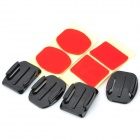 RI-009 DV Mounting Holder Bracket Set for GoPro Hero 2 / Hero 3 / 3+ / HD 2 / SJ4000 - Black + Red