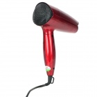 DongXing DX-555 1000W 2-Mode Foldable Hair Dryer - Red (2-Flat-Pin Plug / 220V)