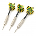 Professionelle Sharp Nickel Steel Darts Set - Silber + Schwarz + Gelb (3 PCS)