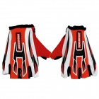 PRO-BIKER Cycling Anti-Slip Breathable Half-Finger Gloves - Red + White + Black (Pair / Size L)