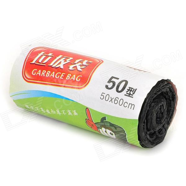 HaoPoXi HQS-G100407 Thickening PE Roll-up Garbage Bag - Black (50 PCS / Pack, 50 x 60cm) 2pcs high quality fitting for philips vacuum cleaner accessories dust bag non woven bag garbage bag hr8376 8378