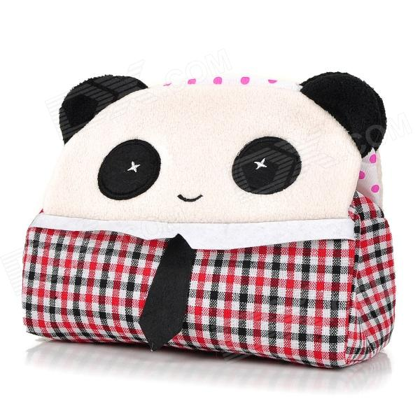 HQS-G100342 Cute Panda Style Tissue Paper Box Holder - Black + White + Red jomoo bathroom toilet paper holder gold color roll tissue holder wall mounted papel higienico box bathroom accessories