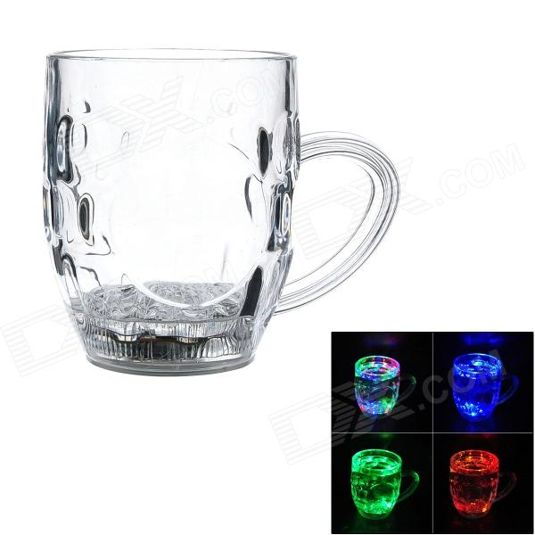SY1209 Creative 7-Color Changing LED Beer Cup - Transparent (1 x CR2025 / 285ml)