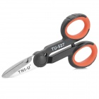 TNI-U TU-527 Multi-Function Stainless Steel Electrician's Scissors - Black + Red + Silver