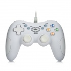 USB 2.0 Double Shock GamePad Controller - White (145cm-Cable)