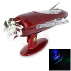 JC-883 Motorcycle Wind Power 0.12W 15lm 3-LED RGB Light Car Decoration Lamp - Wine Red (DC 12V)