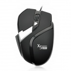 X5 USB Wired 800/1200/1600 DPI Gaming Optical Mouse - Black + Silver (140cm-Cable)