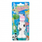 2007 Cute Cartoon Dairy Cow Shape Pop-up Toothbrush for Children - Black + White