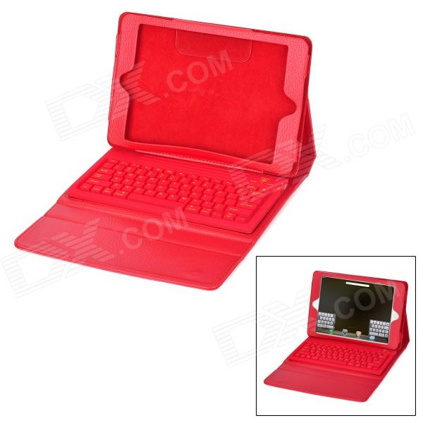 Waterproof Silicone Bluetooth V3.0 78-Key Keyboard for Ipad MINI - Red