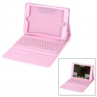 Waterproof Silicone Bluetooth V3.0 78-Key Keyboard for Ipad MINI - Pink