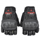 Scoyco MC12D Non-slip Half-Fingers Protection Motorcycle Gloves - Black (Pair / Size XL)