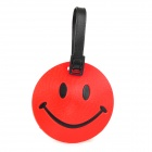 Fun Smiley face Style Travel Suitcase Luggage ID Tag - Red + Black