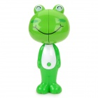 Cute Smile Frog Style Automatically Popup Toothbrush-Holder W/ Suction Cups + Toothbrush - Green
