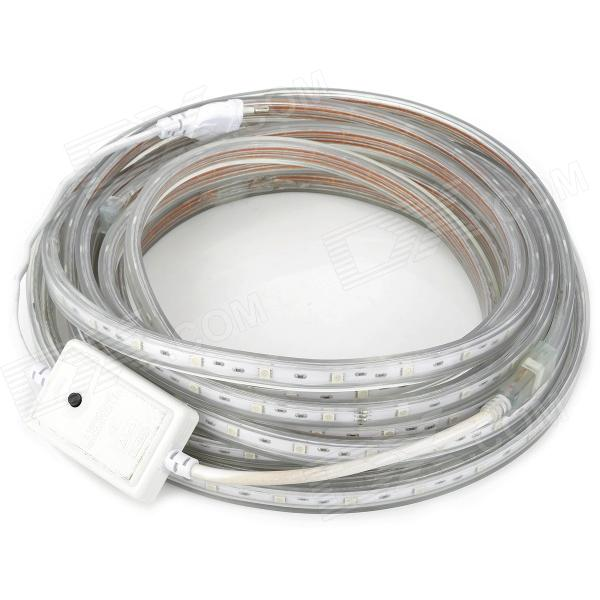 12W 4000lm 300-5050 SMD LED RGB Light Flexible Strip w/ Microcontroller (EU Plug / 10m / 220V)