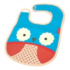 Cute Owl Pattern Baby Water-Resistant Saliva Towel - Blue + Yellow