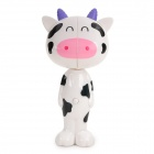 Cute Cartoon Dairy Cow Style Automatically Popup Toothbrush-Holder W/ Suction Cups - White + Black