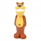 2007 Cute Cartoon Dog Shape Pop-up Toothbrush for Children - Brown + Yellow