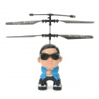 2.5-CH Radio Control R/C Flying PSY Gangnam Style Helicopter with Colorful Light - Blue + Black