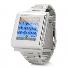 "AOKE 912A GSM Watch Phone w/ 1.44"" Resistive Screen, Triple-Band, Single-SIM, Bluetooth, FM - Silver"