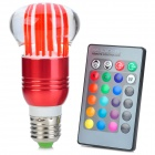 Mushroom Shape E27 3W 270lm LED 7-Color Light Lamp w/ Remote Control - Red + Silver (AC 85~265V)