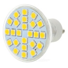 GU10 3W 336lm 3500K 24-SMD 5050 LED Warm White Light Lamp - White + Silver (220V)