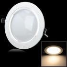 KUNSHI 9W 18-LED 710LM 2800-3200K Warm White LED Ceiling Light w/ Driver - Ivory White + Silver
