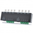 8-Channel Passive Twisted-Pair Video Transmission Transceiver - Black