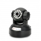 Loosafe LS-IP601 Motion Detection IP Network Camera w/ PTZ / Wi-Fi / 11-LED IR Night Vision - Black