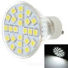 GU10 3W 180lm 6500K 24-SMD 5050 LED White Light Lamp - White + Silver (220V)