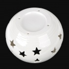 Solar Power Ceramic Stars 1W 6lm 6000K 2-LED White + RGB Light Decorative Lamp - White
