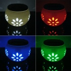 Heart Shape 1W 6lm 6000K 2-LED White Red Green Blue Atmosphere Lamp - White (DC 2V)