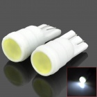 T10 1W 100lm 1-LED White Light Car Reading / Clearance / Instrument / Indicator Lamp - White (Pair)