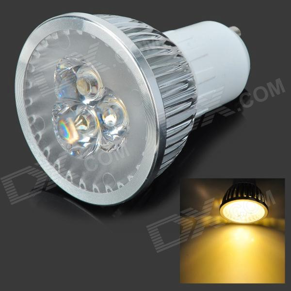 GU10-3W-WW 3W 300lm 3200~3500K Warm White Light 3-LED Bulb - Silver