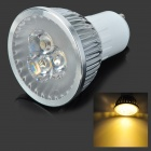 3W 300lm 3200~3500K Warm White Light 3-LED Bulb - Silver