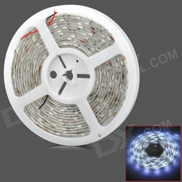 Wasserdichte flexible 2400LM 36W 6500K 150-SMD 5050 LED-Weißlicht-Dekoration Strip (5m / DC12V)