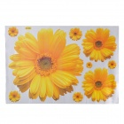 Rudbeckia Pattern Reusable Removable Decorative Wall Sticker - Yellow (45 x 65cm)
