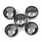 JR-24mm 60 Degree Angle LED Lens - Transparent + Black (5 PCS)