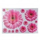 Rudbeckia Pattern Reusable Removable Decorative Wall Sticker - Pink (45 x 65cm)
