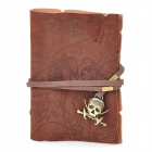 Retro Creative PU Card Holder Pouch / Bag w/ Strap - Deep Brown + Bronze