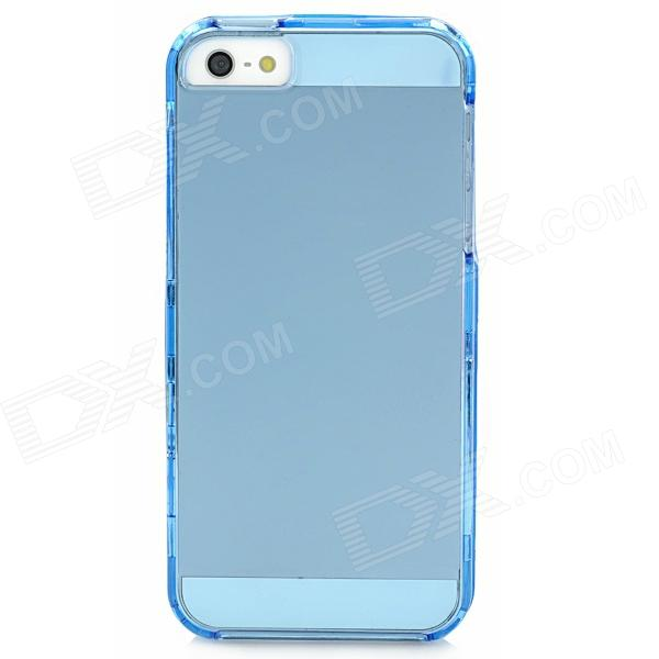 Protective Plastic Case for Iphone 5 - Translucent Blue protective silicone case for nds lite translucent white