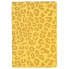 Leopard Pattern Protective 3-Fold PU Leather Case for Ipad MINI - Yellow