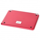 M6 Wireless Bluetooth 59-Key Keyboard w/ Magnetic Slot for Ipad MINI - Red + Black