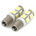 BA9S 1.5W 170lm 9-SMD 5050 LED White Car Reading / Clearance / Instrument / Indicator Lamp (Pair)