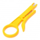 Pro'skit 8PK-CT001 ABS Simple UTP / STP Cable Stripper - Light Orange Yellow